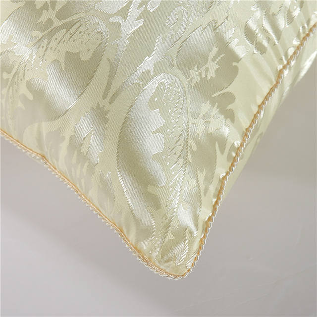 Solid Embroidered Silk Pillow