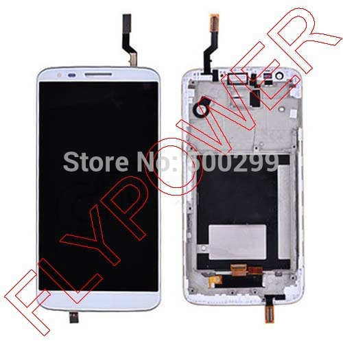 New For LG Optimus G2 D802 D805 lcd screen display  with touch screen digitizer + frame assembly by free shipping; silver wings серьги