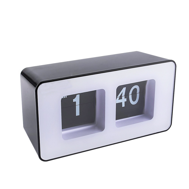 New Arrival Best-mall Stylish Modern Retro Auto Flip Clock Desk Table File Down Page Clocks retro digital flip page gear clock