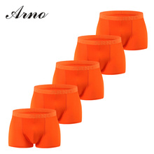 Arno Summer New Style Mens Brand Boxers 5 pieces gift packing High Quality Viscose Men Sexy Underwear Shorts,MTU50903-5P