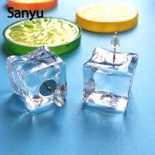 6666cdfa2 New Super Lovable Handmade 3D Ice Cubes Stud Earrings Simple Transparent  Summer Fashion Cool Stud Earrings