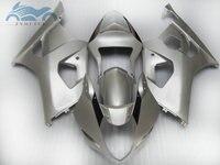 Free Custom Fairing set for SUZUKI 03 04 GSXR1000 K3 moto sport racing fairings kit GSXR 1000 2003 2004 silver body repair parts