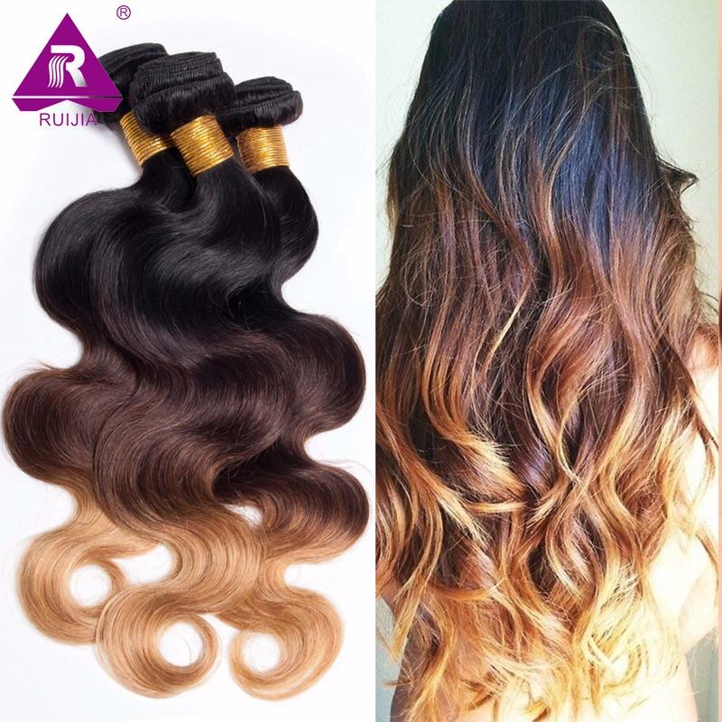 8A Grade Ombre Mongolian Body Wave Virgin Hair 3pcs Mongolian Ombre Hair Human Hair Weave Dark Brown 1B 4 27 Tissage Bresilienne (20)