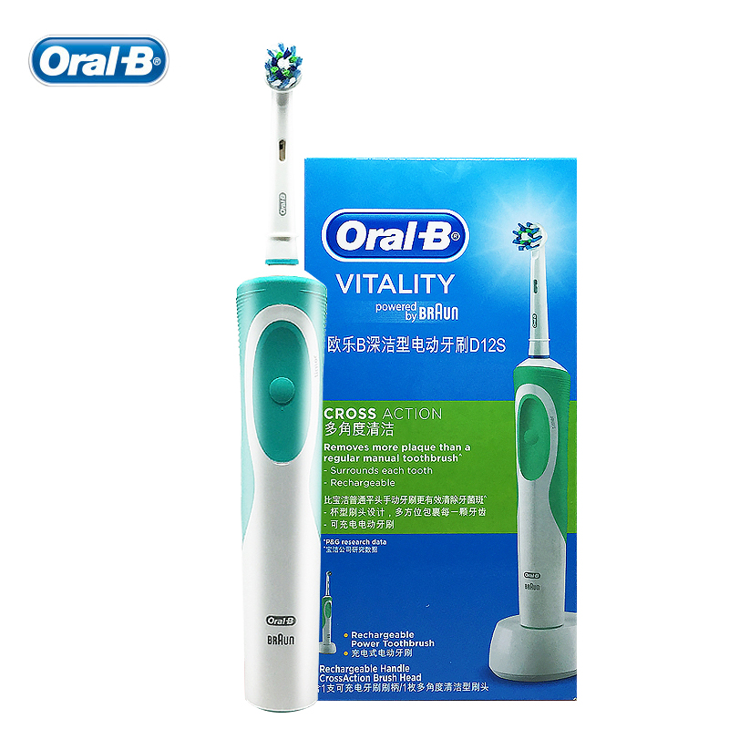 Image 3 - Oral B Vitality  Electric Toothbrush or Replaceable Brush Heads for Adult Rechargeable Electric Tooth Brushes Teeth Whitening-in Electric Toothbrushes from Home Appliances