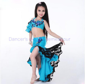 New style girls Belly dance costumes sexy spandex bra top+long skirt 2pcs belly dance set for girls belly dance suits