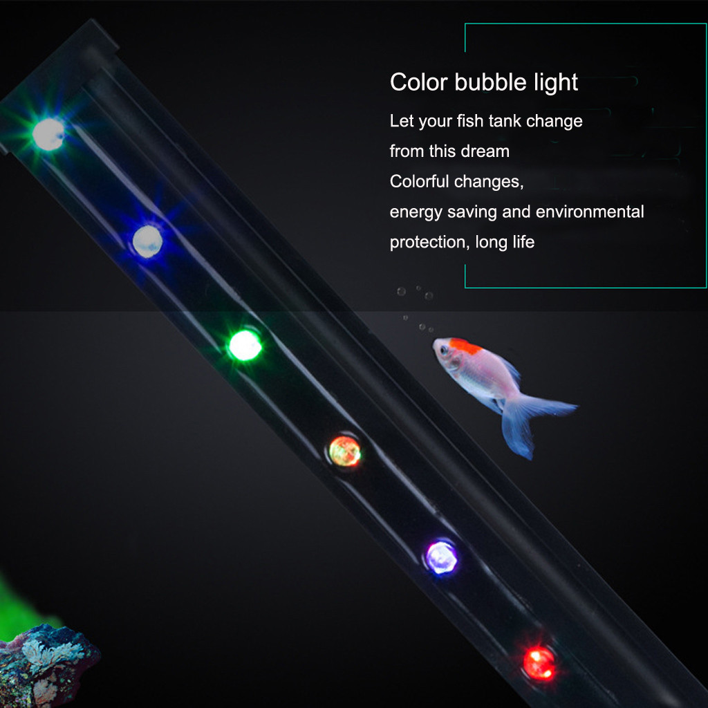 Reasonable Fish Tank Led Remote Color Changing Bubble Light Bar Waterproof Submersible Aquarium Rgb Led Light Bar Strip Lamp 45/55cm Led Bar Lights Led Lighting