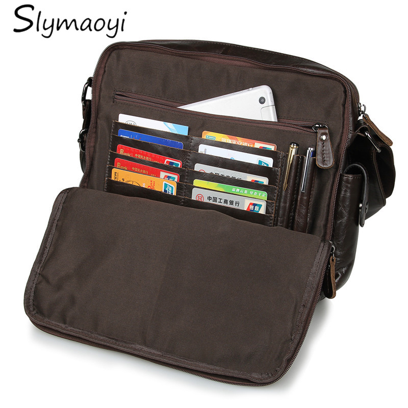 New Fashion Genuine Leather Man Messenger Bags Cowhide Leather Male Cross Body Bag Casual Men Commercial Briefcase Bag deelfel new brand shoulder bags for men messenger bags male cross body bag casual men commercial briefcase bag designer handbags