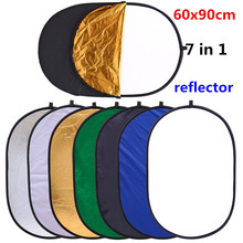 CY 24x35in Factory direct sale 60x90cm 7 in 1 Portable Photography Studio Multi Photo Ellipse Collapsible Light Reflector photo
