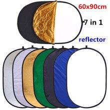 Cy 24x35in工場直接販売60 × 90センチメートル7で1ポータブル写真撮影スタジオマルチフォトフレーム楕円折りたたみライトリフレクター写真