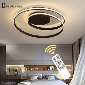 Image 2 - الثريا الحديثة لغرفة المعيشة غرفة نوم غرفة الدراسة أبيض أسود اللون سطح شنت الثريات تسليم أضواء ديكو AC85 265V