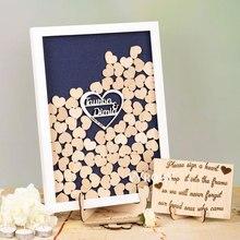 Персонализированная упаковочная коробка свадебная книга для гостей выгравированное имя Дата Гостевая книга для свадьбы деревянные полые сердца деревянные книги для гостей