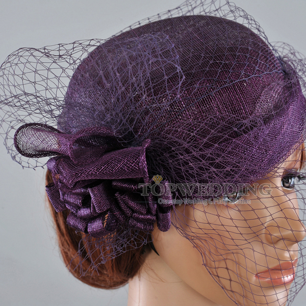 05e8df00e US $31.99 |Elegant Dark Purple Pillbox Bridal Mini Church Hat Bridal  Kentucky Derby Hats for Wedding/Horse Races/Party/Outdoor Fedoras-in  Fedoras from ...