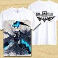 Camisa de T Lâmina Miku Hatsune Miku Nendoroid Black Rock Shooter T-shirt Venda Quente Anime Tshirt dimensão Legal das mulheres dos homens Top Tees