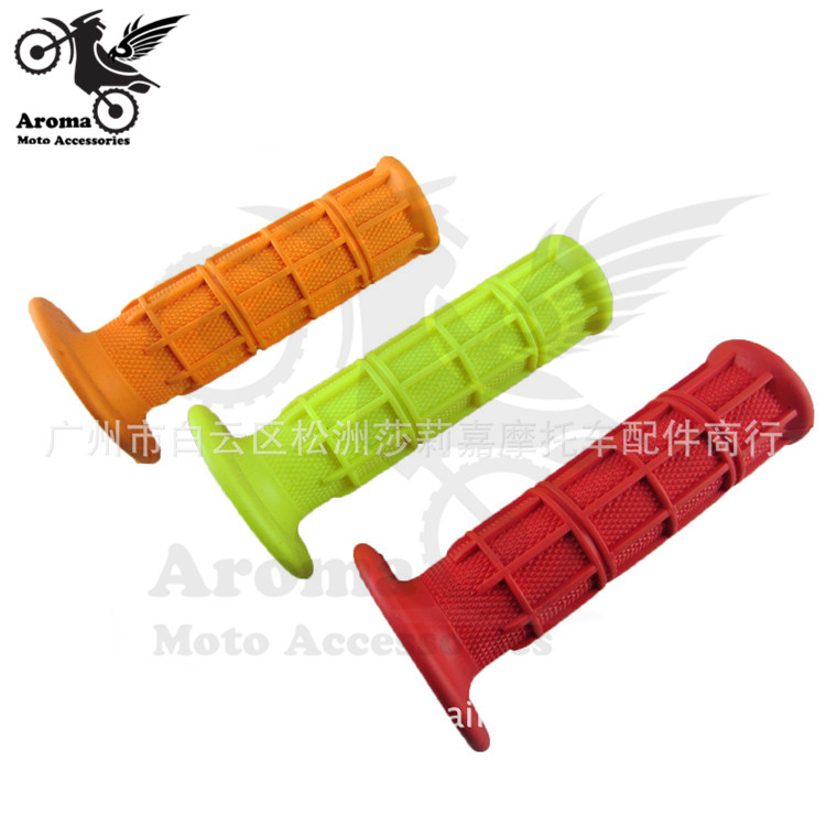 <font><b>1</b></font> pair red yellow orange retro 22mm 24mm <font><b>motorcycle</b></font> handlebar for kawasaki honda suzuki <font><b>yamaha</b></font> moto <font><b>grip</b></font> motorbike handle bar image