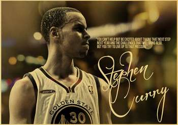 MVP basketball player Stephen Curry Art Poster kraft paper Painting Print Home Decor For Wall 4