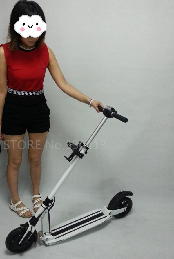 simple travel 2 wheel electric scooter easy folding e. Black Bedroom Furniture Sets. Home Design Ideas