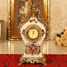 Retro Home Furnishing European decorative  clock imitation vase room creative classic luxury tabletop watch