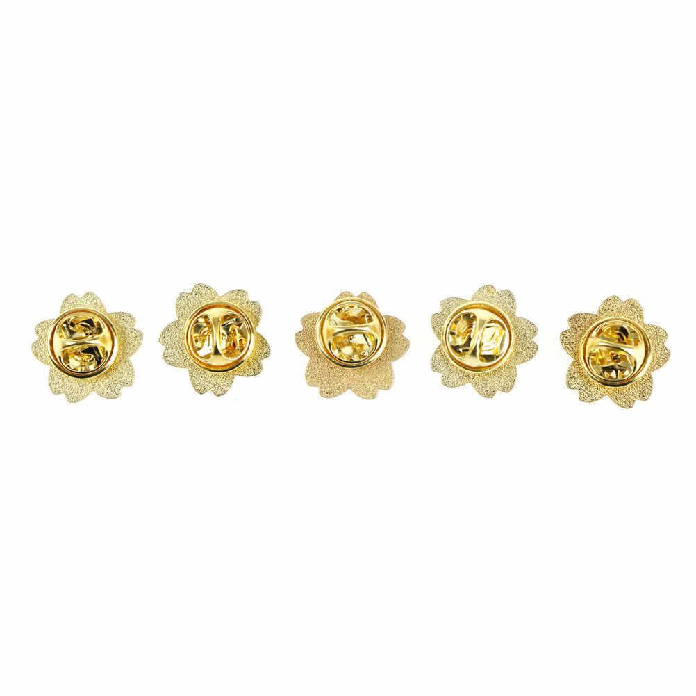 1 Máy Tính Hoa Anh Đào Hoa Vàng Màu Bạc Cài Áo Nút Pin Denim Pin Huy Hiệu Túi Phong Cách Nhật Bản Trang Sức quà Tặng Cho Bé Gái