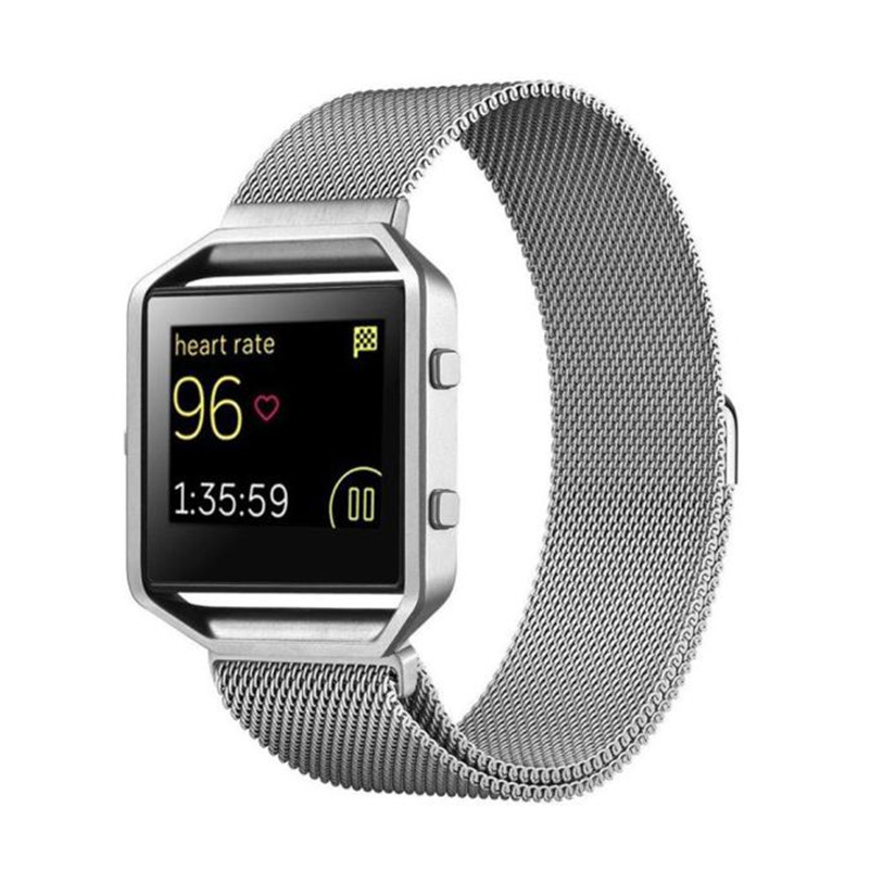 Superior Milanese Magnetic Stainless Steel Watch Band + Metal Frame For Fitbit Blaze S Jan 9 superior nylon watch band wrist strap steel metal frame for fitbit blaze smart watch dec 12