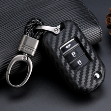 3 Button Leather Car Key Fob Pocket Cover Case For Honda Civic CR-V HR-V Accord Jade Crider Odyssey 2015- 2018 Remote Protector