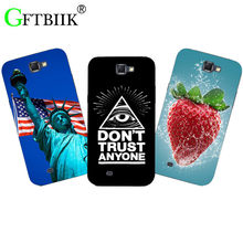 Fashion Cute Cartoon Phone Case For Samsung Galaxy Note 2 II Note2 N7100 Cover Animal Flower Originality Printing Back Shell(China)