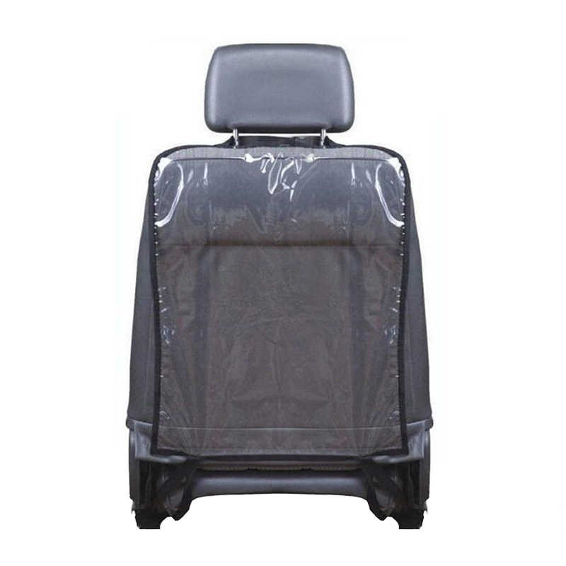 1 unidad de cuidado del coche asiento trasero Protector de la carcasa de la cubierta de los accesorios de coche niños bebé kick Mat barro limpio plástico Anti -kick Pad