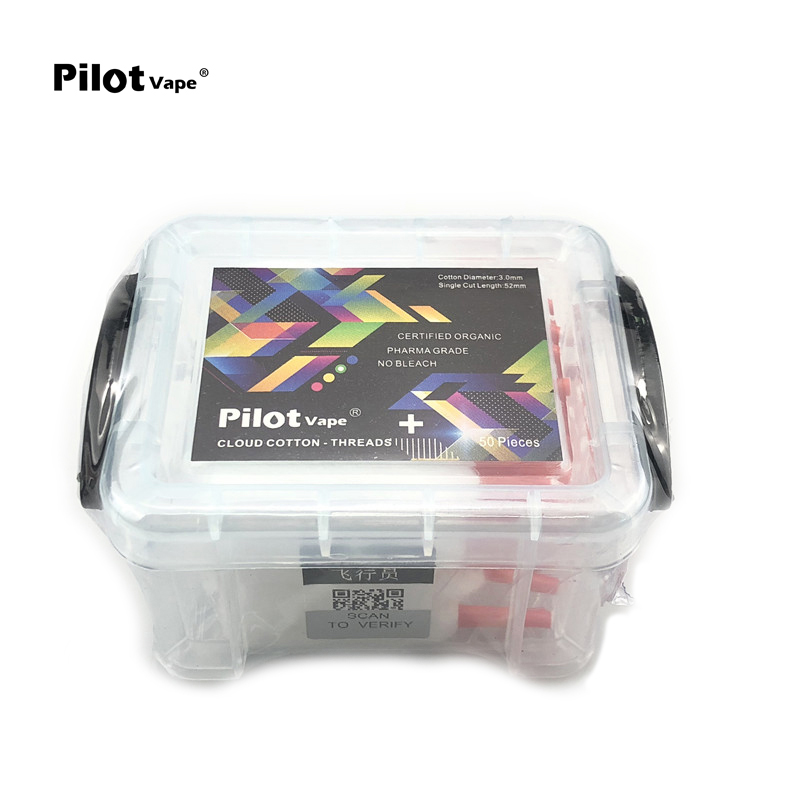 New Arrival Pilot Vape 50 Piece/Box Lace Vape Cotton Easy Use for RDA RDTA RTA Atomizer Cigarette Accessories