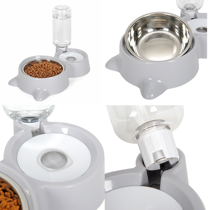 Water Dispenser with Food Dish for Cats and Dogs Pet supplies