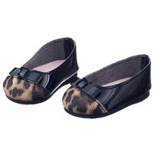 Dolly Ballerinas Leopard Shoes For Dolls 18 Inch