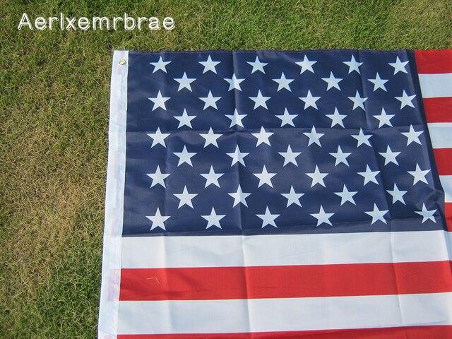 Trasporto libero aerxemrbrae flag150x90cm bandiera degli stati uniti di Alta Qualità A Doppia Faccia Stampata Poliestere Bandiera Americana Anelli di Tenuta USA flag 3