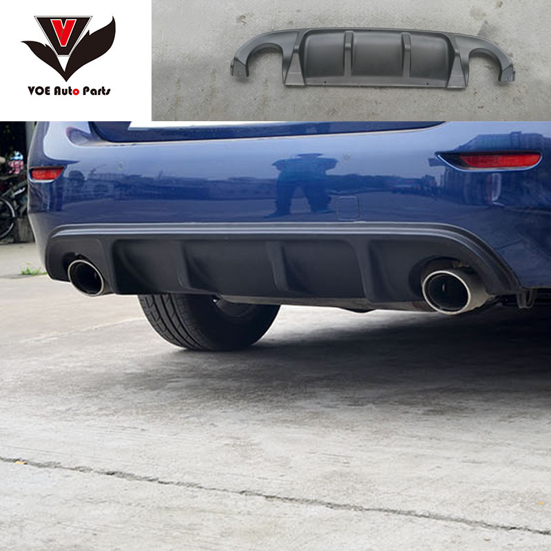 Q50 Carbon Fiber Material Unpainted Matte Black Rear Bumper Lip