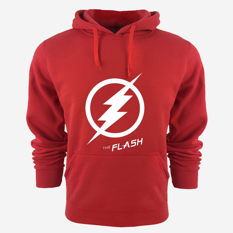 MIDUO 2018 New The Flash Pullover hoodie Anime Justice League Hooded Fleece Hoodies Zipper Men Sweatshirts Hot Sale USA EU size