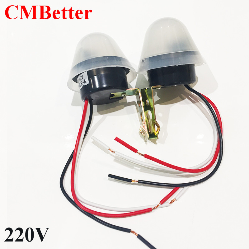 CMBetter Automatic Light Sensor Photo Control Switch Mayitr Relay Photoswitch 220v for Outdoor Street Llighting Lamp LED Lights kg f light control switch 220v automatic corridor light sensor adjustable with probe intelligent delay street lamp controller