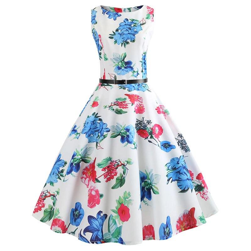 Blue Vintage Swing Dress 10