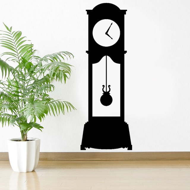 grandfather clock wall decal custom vinyl art stickers for living