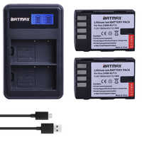 2Pcs 1860MaH DMW-BLF19 DMW BLF19 BLF19E DMW-BLF19e DMW-BLF19PP Battery+ LCD Dual USB Charger for Panasonic Lumix GH3 GH4 GH5 G9
