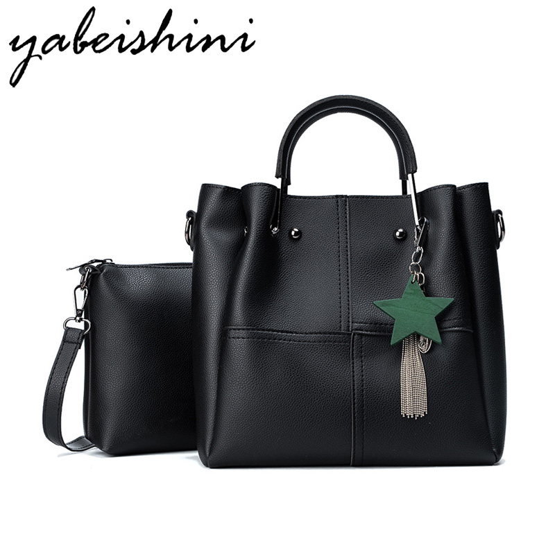 YABEISHINI Sac A Main Marque Bolsas Luxury Handbags Women Bags Designer PU Leather Shoulder Bag Ladies Casual Tote Handbags handbags women trapeze bolsas femininas sac lovely monkey pendant star sequins embroidery pearls bags pink black shoulder bag