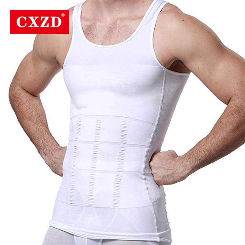 CXZD 2019 Men Slimming Body Shaper Tummy Shaper Vest Slimming Underwear Corset Waist Waist Cincher Men Bodysuit Dropship