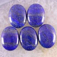 شحن مجاني الأزياء والمجوهرات الحجر الطبيعي الأزرق اللازورد كابوشون cab 5 قطع K1678