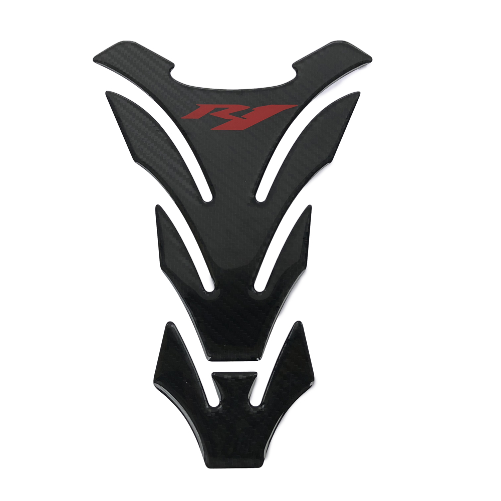 3D Carbon Look  Motorcycle Tank Sticker Gas Fuel Oil Pad Protector Decal Decoration Case For Yamaha YZF-R1 R1 Tank