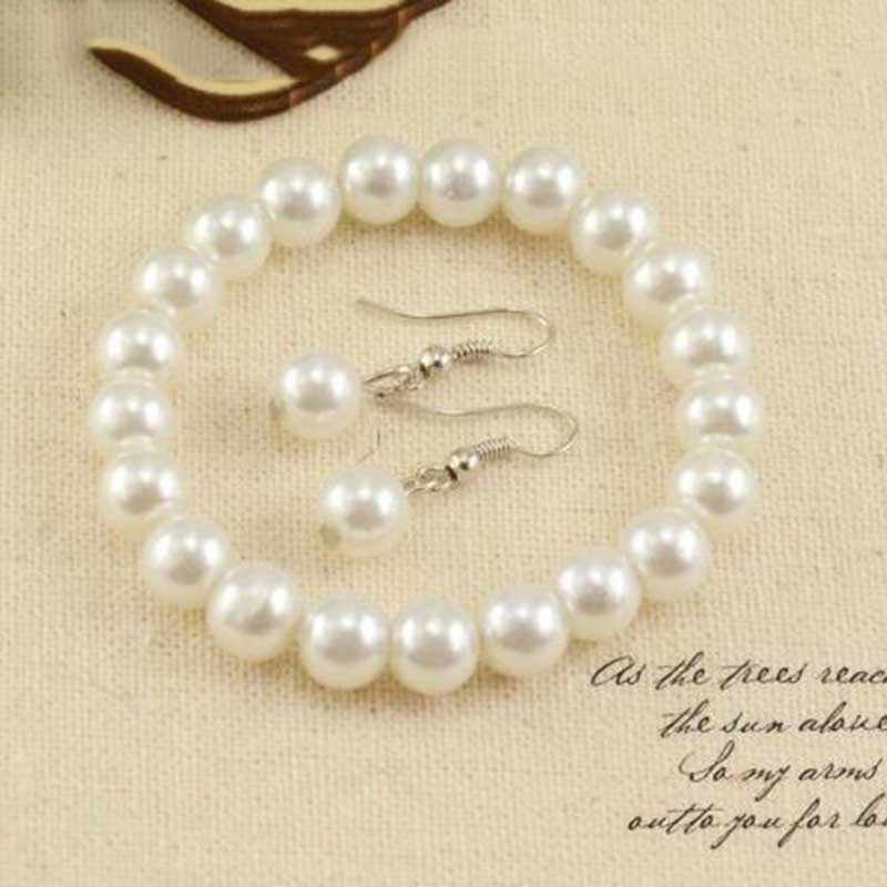 idix  jewellery colliers big chain simulated pearl necklace bridal jewelry necklace female white wedding gifts pearl neckl