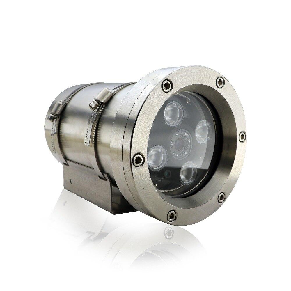 Cámara de red IP a prueba de explosiones HD 1080 P estación de gas fábrica de polvo y agua seguridad Acero inoxidable EXDIICT6