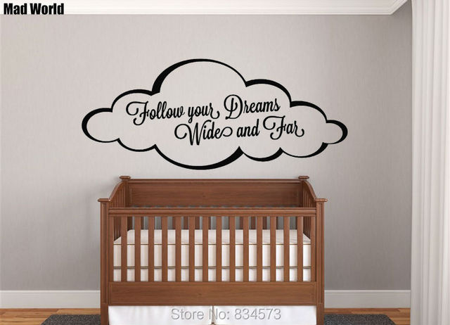 Mad World-Follow Your Dreams Wide and Far Wall Art Stickers Wall Decal Home DIY & Mad World Follow Your Dreams Wide and Far Wall Art Stickers Wall ...