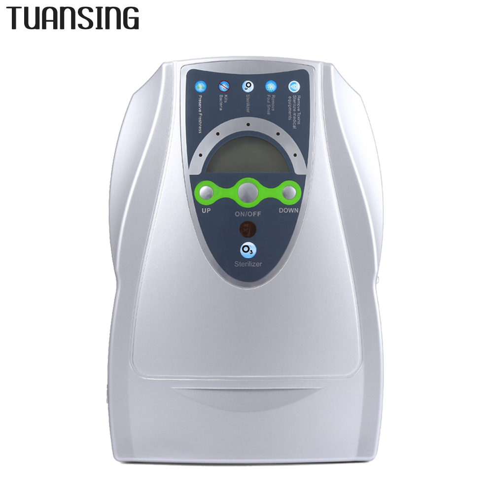 TUANSING Portable Air Purifier Ozone Disinfector for Fruits Vegetables Sterilization Household Ozone Generator Air Purifier