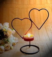 040271 Candle Holder Iron Candle Holder Lamps Wedding Home Furnishings Birthday Gift Heart Shape