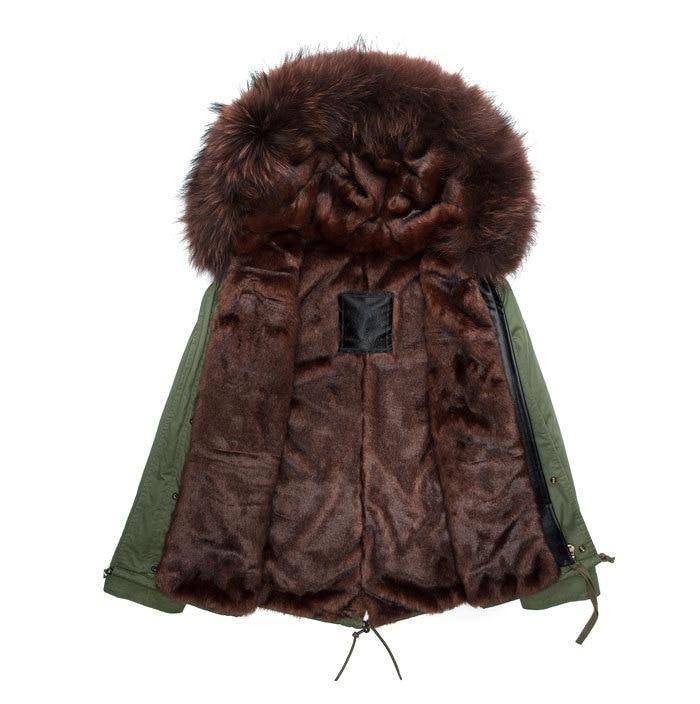 New fashion male parkas plus size overcoat faux furs lining men coat