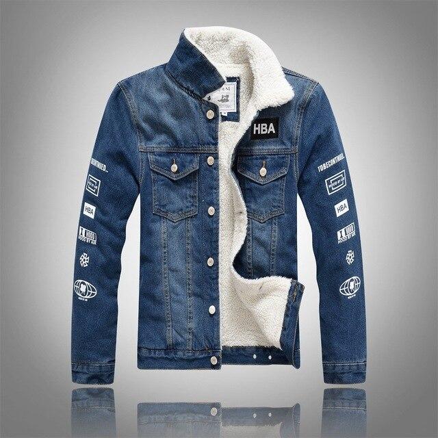 9ef81a3e1d30 Luxury Man Casual Slim Fit Denim Jeans Men Winter Denim Jacket Men Clothing  Jean Coat outwear men s coat jackets Plus Size 3XL
