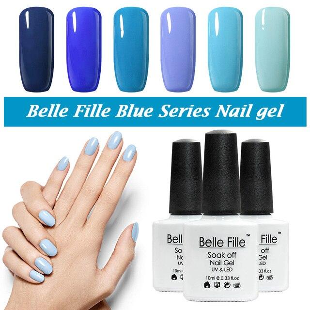Belle Fille UV Gel Vernis À Ongles Bleu série Vernis À Ongles Gel LED  Lumière UV