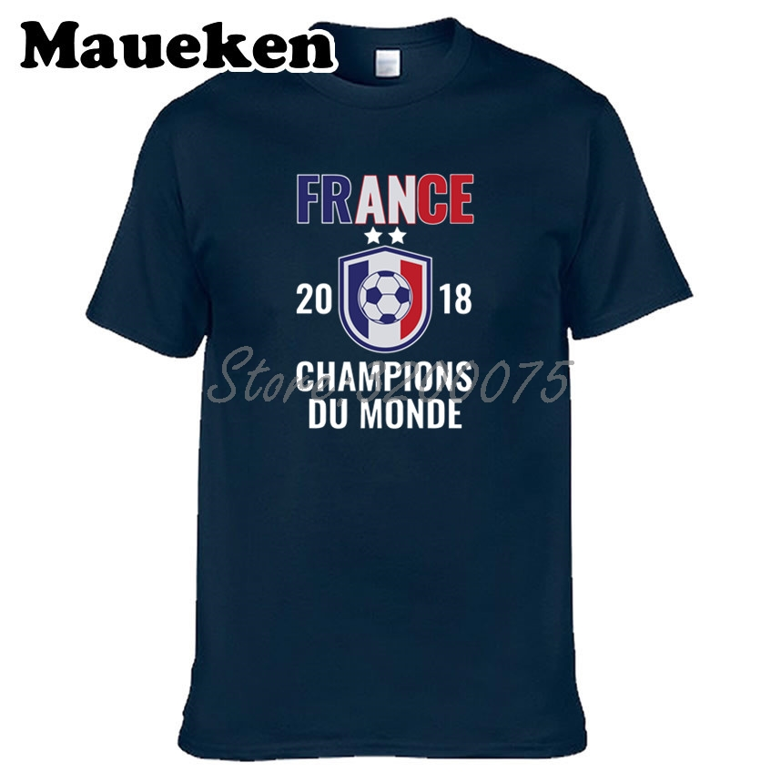 France 2018 world Champions DU MONDE pogba Mbappe Griezmann Men T-shirt Clothes T Shirt Men's Tshirt O-Neck Tee W18071115