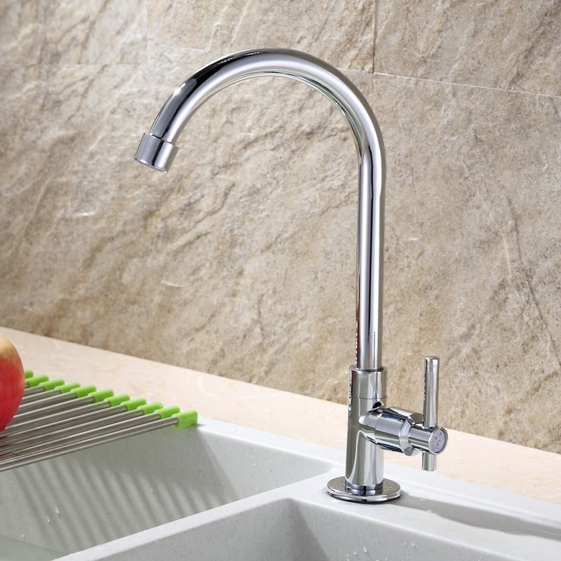 Kitchen Faucet 1/2″ Big promotion Zinc alloy deck mounted kitchen sink faucet Cold Water Tap  mixer faucets torneira#0